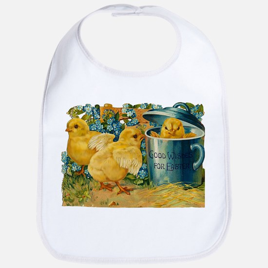 Vintage Easter Chicks Bib