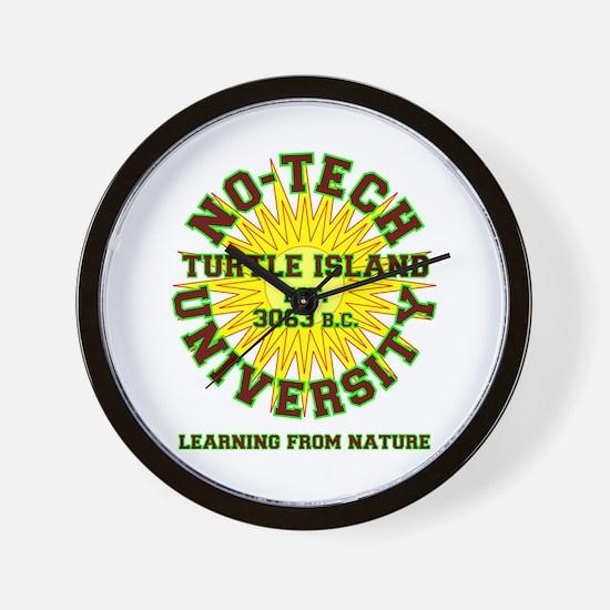 No-Tech University Wall Clock