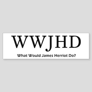 What Would James Herriot Do? Sticker (Bumper)