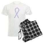 Periwinkle paw ribbon Men's Light Pajamas
