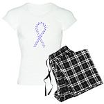 Periwinkle paw ribbon Women's Light Pajamas