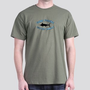 Gone Fishing - Outer Banks Dark T-Shirt