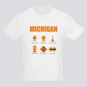 Michigan Symbols Kids Light T-Shirt