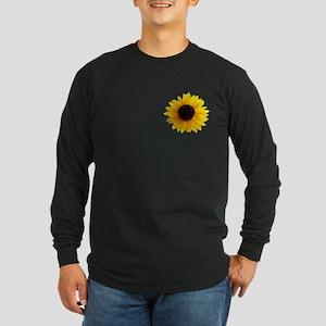 Golden sunflower Long Sleeve Dark T-Shirt