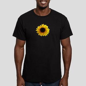Golden sunflower Men's Fitted T-Shirt (dark)