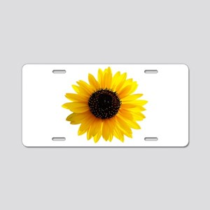 Golden sunflower Aluminum License Plate