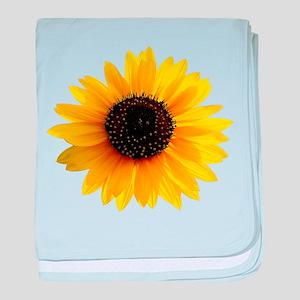 Golden sunflower baby blanket