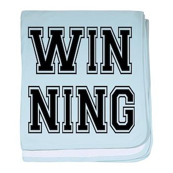 Win-ning baby blanket