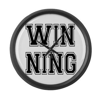 Win-ning Large Wall Clock