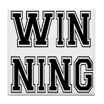 Win-ning Tile Coaster