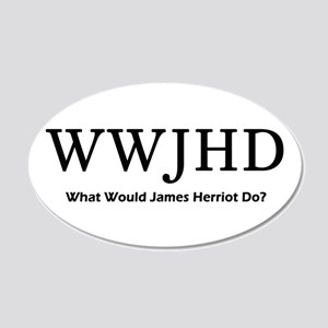 What Would James Herriot Do? 22x14 Oval Wall Peel