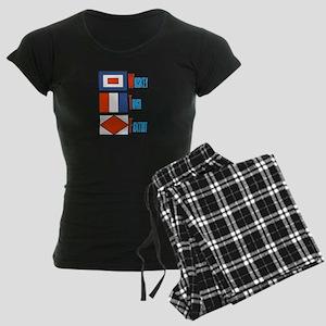 WTF Signal Flags Women's Dark Pajamas