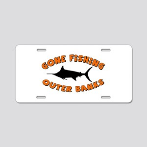 Gone Fishing - Outer Banks Aluminum License Plate