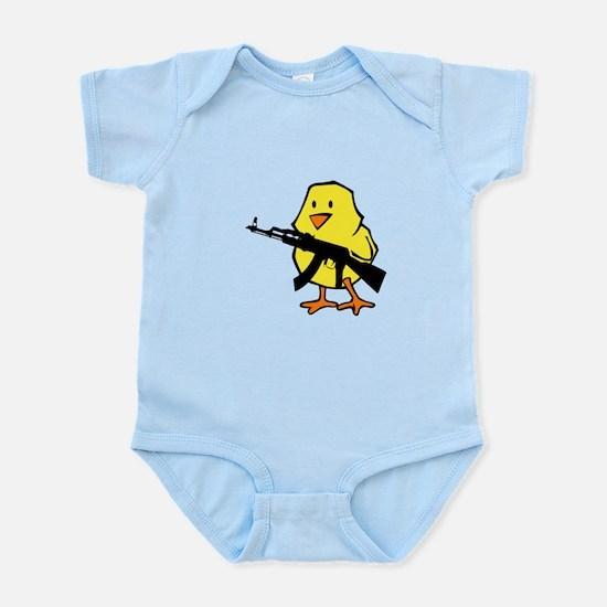 Gun Chick Infant Bodysuit