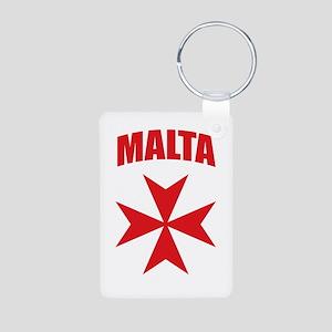 Malta Aluminum Photo Keychain