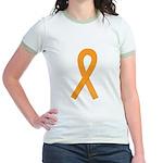 Orange Ribbon Jr. Ringer T-Shirt