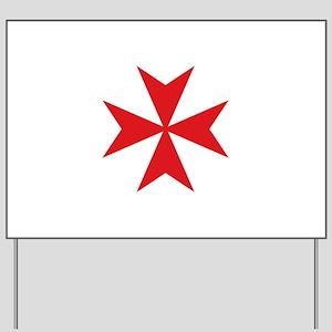 Maltese Cross Yard Sign