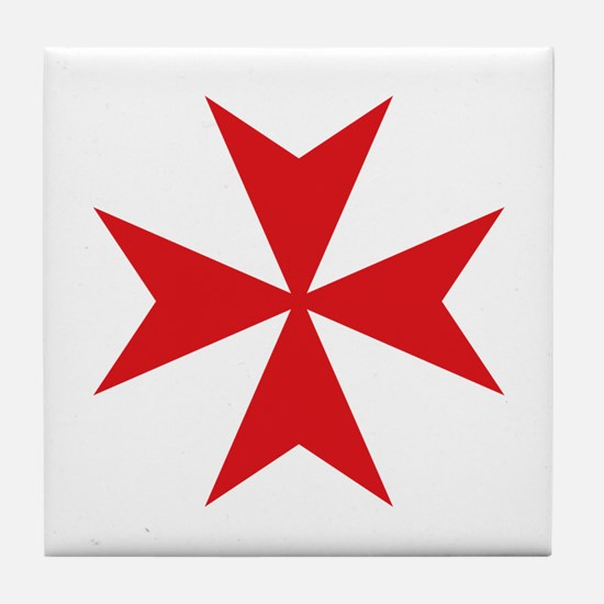 Maltese Cross Tile Coaster