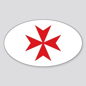 Maltese Cross Sticker (Oval)