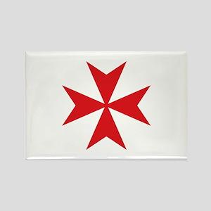 Maltese Cross Rectangle Magnet