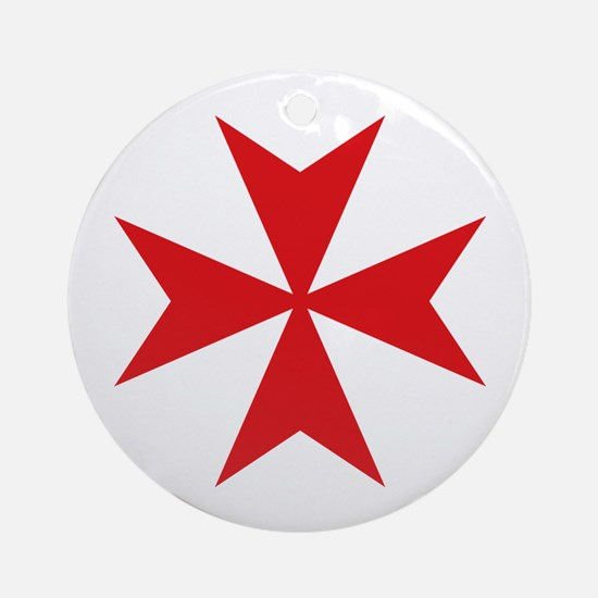 Maltese Cross Ornament (Round)