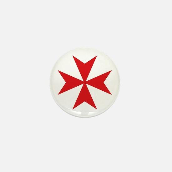 Maltese Cross Mini Button