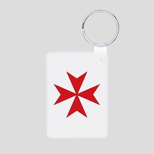 Maltese Cross Aluminum Photo Keychain