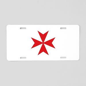 Maltese Cross Aluminum License Plate