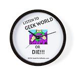 Geek World or Die Wall Clock