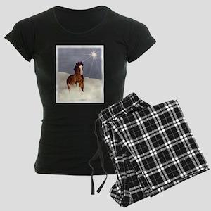 Starlight Snow Run Women's Dark Pajamas