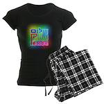 Three Peace Women's Dark Pajamas