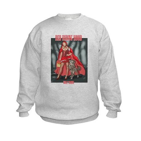 Red Riding Hood Wolf Tamer Kids Sweatshirt