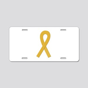 Gold Ribbon Aluminum License Plate
