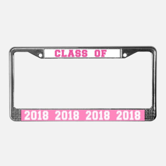 Class Of 2018 Pink License Plate Frame