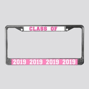 Class Of 2019 Pink License Plate Frame