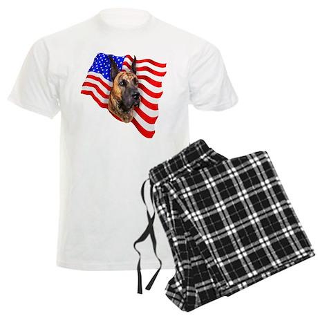 Brindle Patriot Dane Men's Light Pajamas