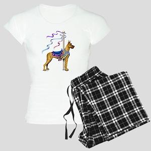 Great Dane Brindle Carousel Women's Light Pajamas