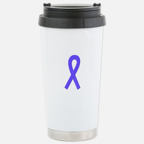 Periwinkle Ribbon Stainless Steel Travel Mug