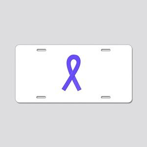 Periwinkle Ribbon Aluminum License Plate