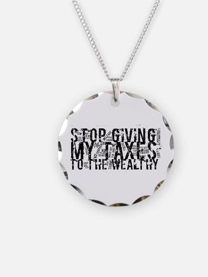 Stop Wealthy Welfare Necklace
