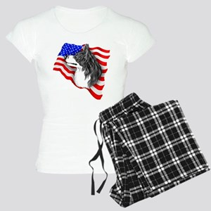 Border Collie BW Patriot Women's Light Pajamas