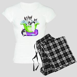 Boston Terrier TubFull Women's Light Pajamas
