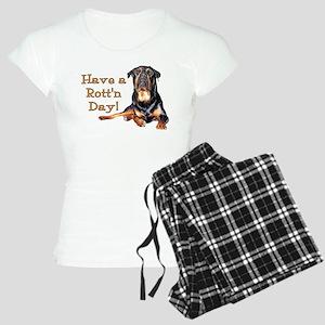 Rottweiler Rott'n Day Women's Light Pajamas