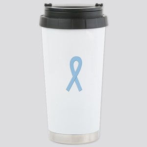Lt. Blue Ribbon Stainless Steel Travel Mug