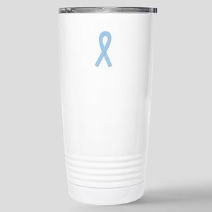 Lt. Blue Ribbon Stainless Steel Travel Mug
