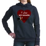 I Love My Goats Women's Hooded Sweatshirt