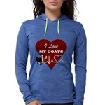 I Love My Goats Womens Hooded Shirt