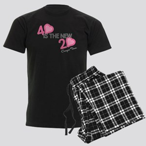Heart 40 is the New 20 Men's Dark Pajamas