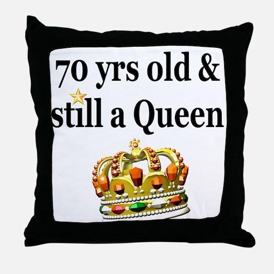 HAPPY 70TH BIRTHDAY Throw Pillow