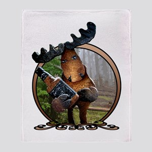 Party Moose Throw Blanket